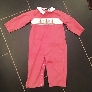 Smocked Giraffe Christmas Outfit 24 Months